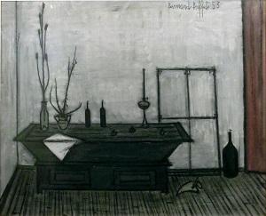 Bernard Buffet, Nature morte au pétrin, 1953, Huile sur toile, 50 x 61 cm, signé et daté en haut à droite
