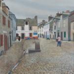 Alexandre SEREBRIAKOV (1907-1994) Camaret-sur-mer, La place Saint Thomas 1926 Gouache, signée, datée et située en bas à gauche. 40 x 60 cm
