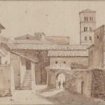 François Marius GRANET ( 1775 - 1849) Paysage d'Italie : crayon et lavis d'encre 8 x 12 cm