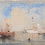 Wiiliam WYLD (1806 -1855) L'Eglise de SanGiorgio à Venise Aquarelle 20,5 x 31,5 cm - Monogrammée