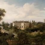 Edouard HOSTEIN (Pléhédel 1804 – Paris 1889) Vue de château, 1853 Huile sur toile signée en bas à droite et datée 1853 66,3 x 100 cm