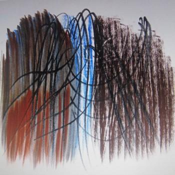 Hans Hartung - P1959-142 - pastel, 1959 - 46 x 57 cm